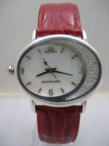 New Jennifer Lopez Women Crystal Pearl Dial Watch 40mm JL2065MPRD