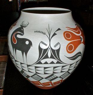 Debbie Garcia Brown Acoma Pueblo Native American Hand Coiled Pottery