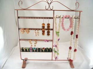 Earrings Necklace Ring Jewelry Display Stand Holder Tree D004