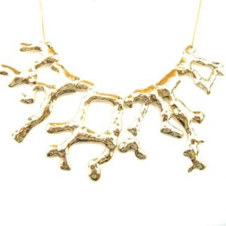 Style Gold Tone Necklace Pendant Trunk Branch Tree Jewelry 1406