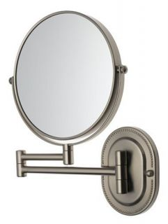 Jerdon First Class 7x Wall Mount Vanity Mirror Nickel