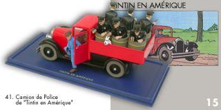 Car Atlas N° 41 Camion Police de Chicago Herge Car Collection