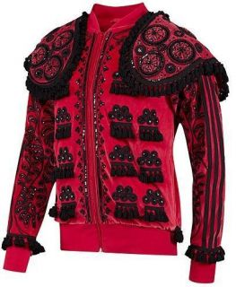 New Sz M Adidas Jeremy Scott Torero Superstar Jacket Track 021144 Red
