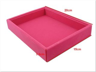 Fuschia Multi Purpose Jewelry Display Case Box Tray