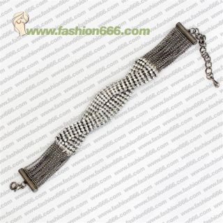 BB20816 New Fashion Hot Cheap Jewelry Bracelet Rhinestone Curved