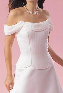 Jessica McClintock Ivory Satin and Chiffon Dress Size 12