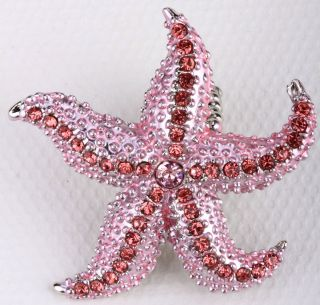 Pink Crystal Starfish Stretchy Ring Jewelry 3 Buy 10 Items Free