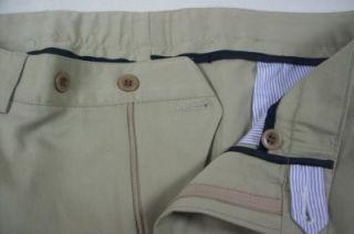 LM Mens Syd Jerome Chicago Dress Pants Khaki Brown 34R Cotton Blendl
