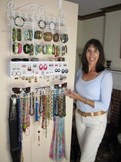 Longstem Door Jewelry Organizer Earring Storage Rack Patented Rated