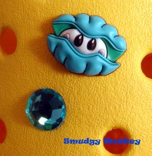 New Blue Pearl Sea Clam Gem Jibbitz Crocs Shoe Charms
