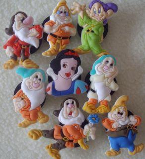PC Snow White 7 Dwarfs Charms Fit Crocs Jibbitz
