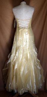 Jessica McClintock Yellow Organza Gown Dress 13