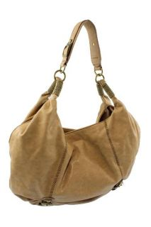 Jessica Simpson Tan Embellished Strap Satchel Handbag Purse Medium