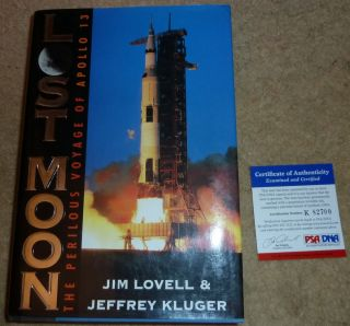 CAPTAIN JIM JAMES LOVELL AUTOGRAPHED SIGNED LOST MOON HARDCOVER BOOK