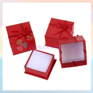 24x Jewelry Ring Holder Display Wedding Gift Box Case