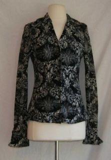 Inc International Concepts Lace Shirt Top Medium Black White