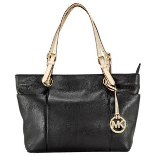 Michael Kors Jet Set Top Zip Tote in Black Leather