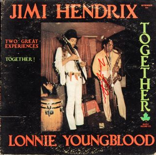 Youngblood Jimi Hendrix Autographed Signed LP Record Album