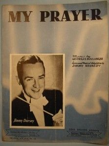 Vintage 1939 My Prayer Sheet Music Jimmy Dorsey