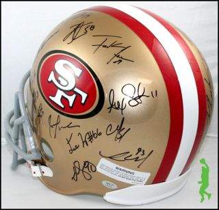 2012 San Francisco 49ers Team Signed F s Football Helmet 30 Autos