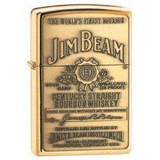 Zippo Lighter Jim Beam Brass Windproof Lighters