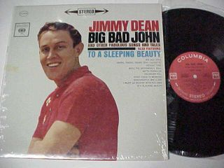 Jimmy Dean Big Bad John 1961 Columbia Stereo LP Record Album in Shrink