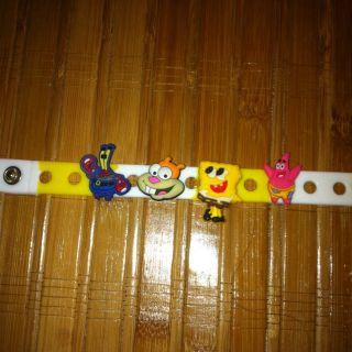 Shoe Charms Fit Crocs Jibbitz Snap Bracelet Sponge Bob Square Pants