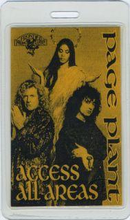 Jimmy Page Robert Plant 1995 Laminated Backstage Pass