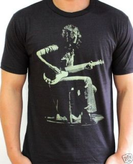 Jimmy Page Guitarist LED Zeppelin Vtg Rock T Shirt XL
