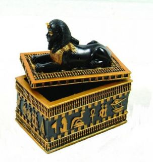 New Ancient Egyptian Sphinx Jewelry Trinket Box