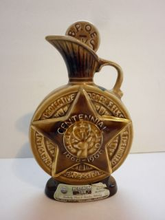 Jim Beam Bourbon Whiskey Decanter Bottle Centennial BPOE ELKS 1868