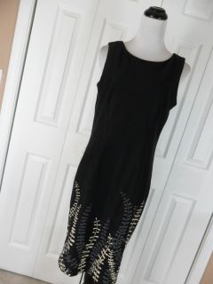 Jones New York Dress Size 12 Sleeveless Sheath Dress Black