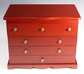 Matte Finish Jewelry Box w Lift Lid Holds 4 Watches 13L x 8W