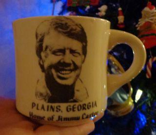 President Jimmy Carter coffee cup mug Plains Georgia conrad crafters