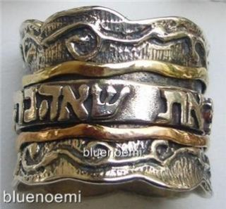 Jewish Jewelry Love Ring Spin Band Anillo Bague Tube Argent or Anillo