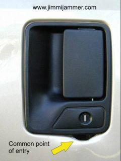 Jimmi Jammer in Door Lock Protection Ford Rear Passenger Doors 103010
