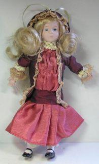 Vintage Jocelyn Mostrom Adler Miniature Porcelain Doll Christmas