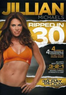 Jillian Michaels Ripped in 30 DVD New