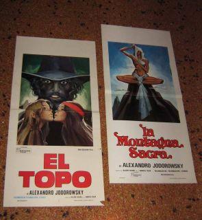lot EL TOPO + HOLY MOUNTAIN Jodorowsky ITALY 1973 vintage CINEMA