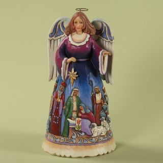 Jim Shore HWC Enesco Christmas Nativity Scene Angel Figurine 4027718