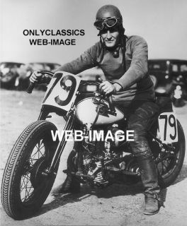 1938 Harley Davidson WLDR Motorcycle Racer Arena Photo