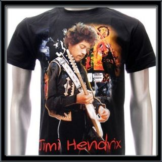 Sz L Jimi Hendrix T Shirt Jimmy Crash Landing Guitar
