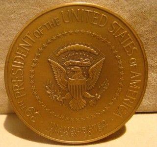 Franklin Mint 1977 Jimmy Carter Bronze Inaugural Presidential Medal