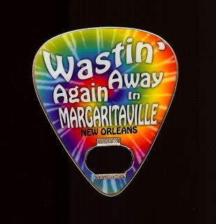 Jimmy Buffett Margaritaville PSYCHEDELIC GUITAR PICK Magnet Bottle