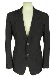 New Tom Ford Black Silk Cotton Knit Blazer 50 40 R Double Button Down