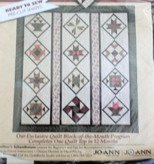 Joann Fabric Month 11 Eleven Quilters Basket Pre Cut Quilt Block Kit