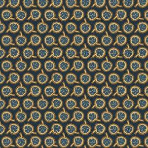 Blue/Brown Leaves Jo Morton Indigo Berries Cotton Quilt Shop Fabric