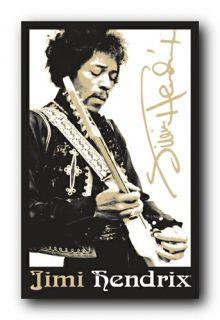 Jimi Hendrix Guitar Blacklight Poster 22011
