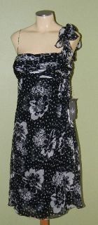 Rickie Freeman Teri Jon Black Cocktail Dress 12
