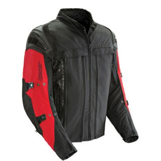 Joe Rocket Rasp 2 0 Red Black Textile Motorcycle Jacket Size 2X Large